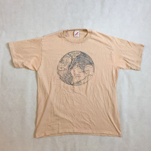 Vintage Single Stitch Pangaea Globe Tee